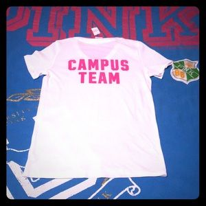 💕NWT Rare VS PINK Campus Team V-Neck Tee HTF💕